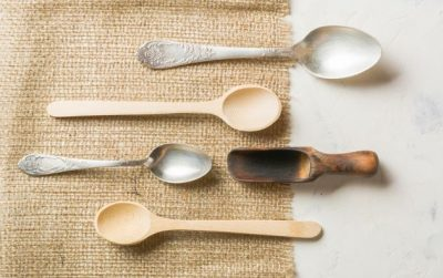 spoons of different sizes and materials