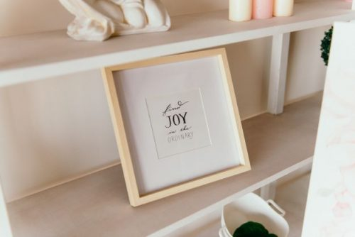 """Framed inspirational quote """"Find Joy in the Ordinary"""""""